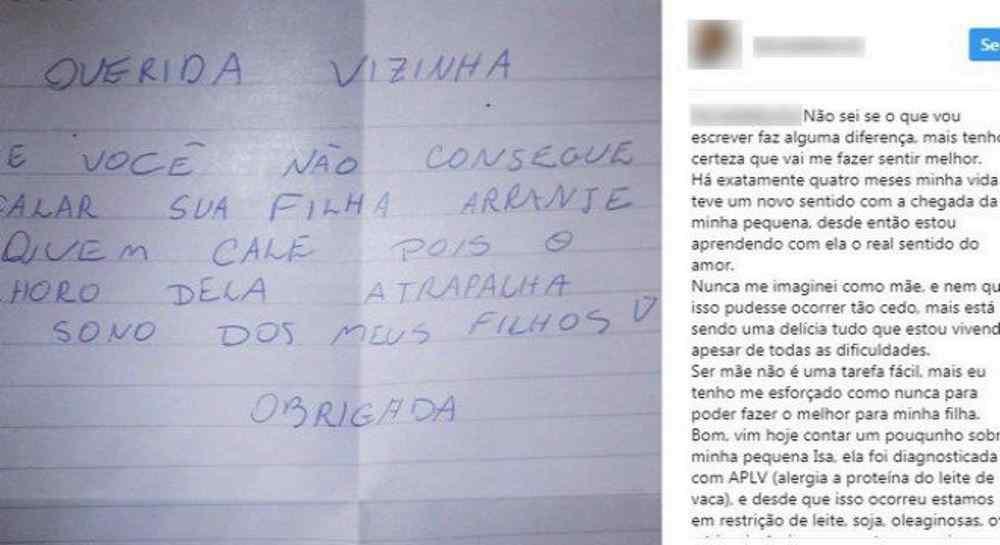 Mãe-recebe-bilhete-de-vizinha-reclamando-de-choro-da-filha-recém-nascida