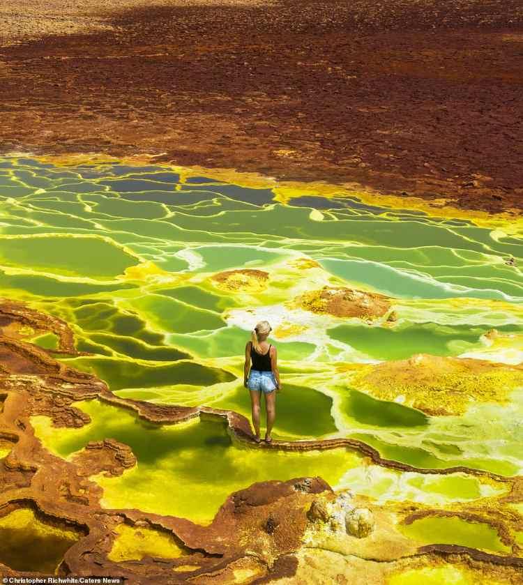 Depressão de Danakil: imagens incríveis das piscinas ácidas do deserto da Etiópia